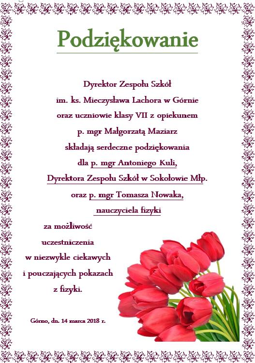 Strona Główna Zespół Szkół Im Ks Mieczysława Lachora W